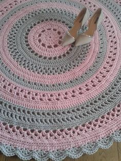 Crochet rug doily rug round carpet crochet round rug knitt carpet babys rug hand knitted rug ecru crochet rug or choice of colorBest 12 Handmade crochet rug It is thick and soft to the touch. Crochet Doily Rug, Crochet Carpet, Crochet Stitches Patterns, Crochet Round, Crochet Home, Knit Crochet, Free Crochet, Knit Rug, Crochet Decoration
