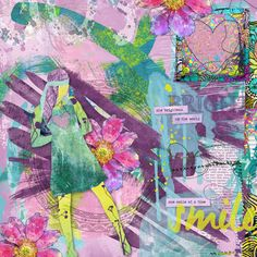 Girls of Summer by #heartjournaling  Beautiful Art Journaling designs for amazing pages.  #digitalscrapbooking #thestudio