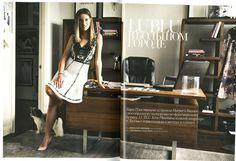 Kira Plastinina wearing LUBLU Kira Plastinina SS14 in Harpers Bazaar, November 2013. Russia.
