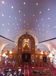 St. Mina Coptic Orthodox Church, Riverside California Orthodox Prayers, Orthodox Christianity, Christian Church, Christian Faith, Riverside California, Church Interior, Place Of Worship, Religious Art, Catholic