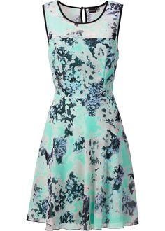 Jurk mint gebloemd - BODYFLIRT nu in de onlineshop van bonprix.nl vanaf € 26.99 bestellen. Trendy jurk van chiffon met print all-over in zomerse kleuren. De ...