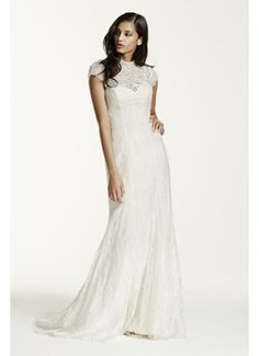 As-Is Petite Lace Sheath Gown AI19020085