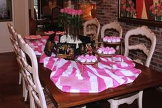 Bunched Fabric to make a table more special! Could use a shower or regular curtain or sheet (cheaper) 21st Birthday Themes, 19th Birthday, Birthday Ideas, Slumber Parties, Grad Parties, Birthday Parties, Pink Candy Buffet, Fun Places To Go, Make A Table