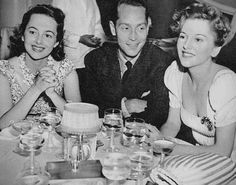 Olivia de Havilland, Franchot Tone and Joan Fontaine