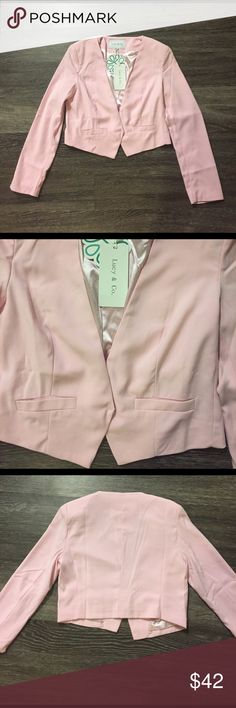 NWT ShopHopes Baby Pink blazer NWT baby pink blazer from ShopHopes.com. Gorgeous pastel color! A classy, stylish piece that can easily transition from day to night. Lucy & Co. Jackets & Coats Blazers