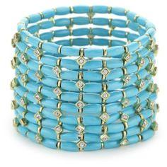 RAIN Turquoise-Color 10-Row Bracelet Set