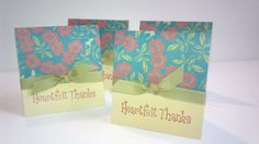 Heart felt Thank You Card by NyraCards on Etsy,
