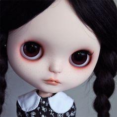 Ooak Blythe custom Blythe doll 'Little Wednesday Addams'.