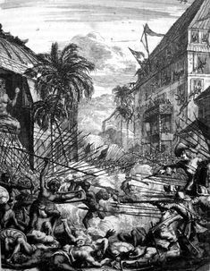 Siege of Cochin, February 1660. Nairs vs. Company forces.