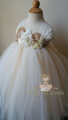 ivory flower girl dress champagne flower girl dress flower