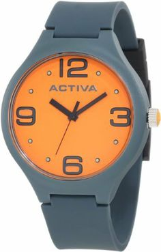 Activa By Invicta Unisex AA100-017 Orange Dial Dark Grey Polyurethane Watch Activa By Invicta. $39.60. Black second hand. Water-resistant to 50 M (165 feet). Dark grey dial with black hands, hour markers and arabic numerals; luminous; stainless steel crown with orange cabochon. Swiss quartz movement. Mineral crystal; dark plastic plastic case with stainless steel back; dark grey strap polyurethane with black loops. Save 60% Off!