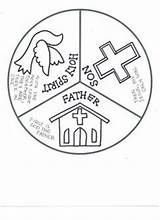 Holy Trinity Coloring Page Free