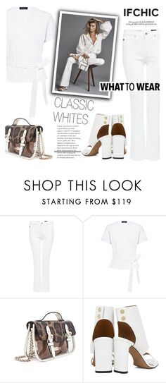 """""""What to Wear: Classic Whites!"""" by ifchic ❤ liked on Polyvore featuring AG Adriano Goldschmied, Mohzy and IRO"""