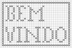 tapete de croche com grafico bem vindo - Pesquisa Google