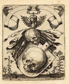 Hermanos de Bry, s. XVI / grabado, cráneo, muerte