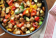 Summer Vegetables with Sausage and Potatoes - Skinnytaste