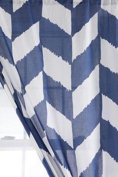 Herringbone Curtain // Would make a fun backdrop!
