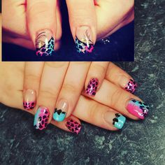 Leopard print nails Pinterest inspired