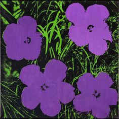 """Purple 'Flowers' by Andy Warhol, 1964. Acrylic and silkscreen ink on linen, 24 x 24"""" 