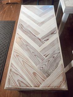 Chevron Coffee Tables, Chevron Table, Plywood Furniture, Home Decor Furniture, Furniture Plans, Coffee Table Plans, Diy Coffee Table, Door Coffee Tables, Diy Table Top