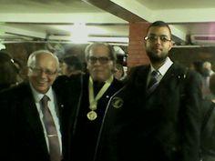 Meu pastor, Reverendo Guilhermino Cunha, Bispo Paulo Lockmann, Presidente do Concílio Mundial Metodista e eu.