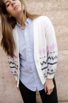 Vintage Button-up Cardigan - $36