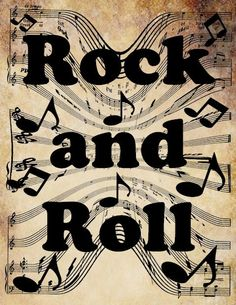 rock and roll words musical notes clip art by VellasCollageSheets, $1.50