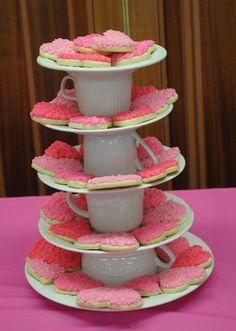 Tea cup cookie tray