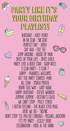 Party Like It's Your Birthday Playlist! | studiodiy.com