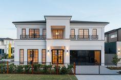 Classic House Exterior, Modern Exterior House Designs, Latest House Designs, Minimal House Design, Classic House Design, 2 Storey House Design, House Outside Design, Village House Design, Home Building Design