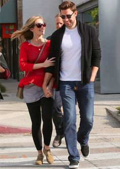 Emily Blunt and John Krasinski's Cutest Couple Moments - December 3, 2013