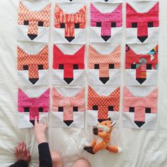 Fox quilt. Love it! @carolconrad57 you should definitely learn to quilt just to make this!!
