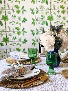Grandmillennial style has been described as granny chic and cluttered. But a true grandmillennial knows it's just an updated take on all the things we love. Breakfast Table Setting, Rattan Coffee Table, Needlepoint Pillows, Trellis Pattern, Granny Chic, Fabric Houses, Home Decor Trends, Decor Ideas, Craft Patterns