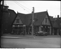 British American gas station, Avenue Road and Lowther by Toronto History, via Flickr