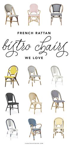 French bistro chairs are making a strong comeback in the home. See some of our favorite affordable picks here!