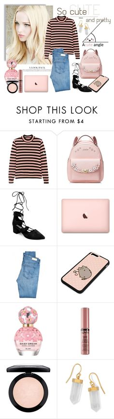 """""""A Cute Angle"""" by molnijax ❤ liked on Polyvore featuring Shrimps, Steve Madden, AG Adriano Goldschmied, Pusheen, Marc Jacobs, NYX, MAC Cosmetics and BillyTheTree"""