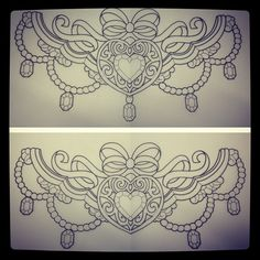 This is absolutely adorable - what a cute chest or thigh piece this would make!