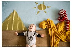 Fun creative baby photography