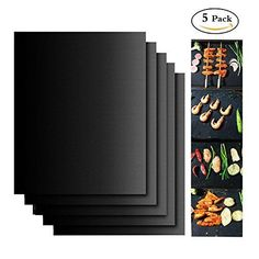 Grill Mat Non-stick BBQ grill & Baking Mats - FDA-Approved, PFOA Free, Reusable and Easy to Clean-Works on Gas, Charcoal, Electric Grill and More - x 13 Inch pack)