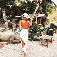 ViX Paula Hermanny- Black and White Stripe Bag