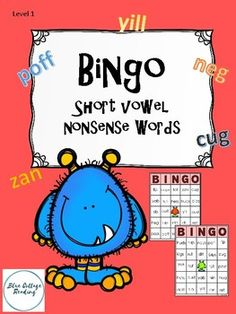 This Bingo game gives students the opportunity to practice reading closed (short vowel) nonsense words. I\'ve included 7 boards so you can use this in small groups or with individual students.