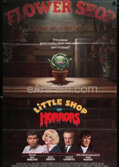 Happy Birthday #EllenGreene https://eartfilm.com/products/little-shop-of-horrors-jack-nicholson-u-s-one-sheet #actors #acting #LittleShopofHorrors #Broadway #theater #PushingDaisies #TalkRadio #film #movies #cinema #posters #movieposters Little Shop Of Horrors-1986-27x40-Roger Corman-Rick Moranis-Bill Murray