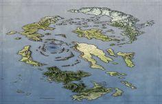A free fantasy world map
