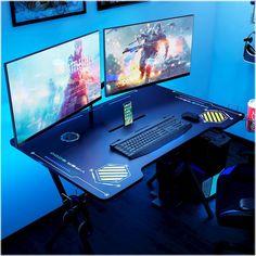 Viper Gaming Desk Black - Atlantic Source by target Gaming Desk Black, Gaming Computer Setup, Best Gaming Setup, Gaming Room Setup, Gaming Rooms, Black Desk, Cheap Gaming Setup, Computer Cake, Ultimate Gaming Setup