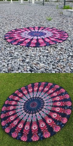 Indian Bohemian Hippie Mandala Tapestry Bed sheet Round Beach towel Blanket Perfect gift For Home/Office Decor. $17.5