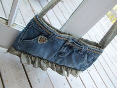 Recycled Jeans Denim Purse Vintage Chic  The Tessa by MammaHenErin, $35.00