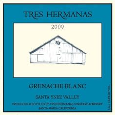 2009 Tres Hermanas Winery Grenache Blanc 750 mL ** Learn more by visiting the image link. Santa Maria California, Santa Ynez Valley, White Wines, Image Link, Learning, Studying, Teaching, Onderwijs