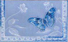 delft blue | Delft Blue butterfly | pergamano | Pinterest