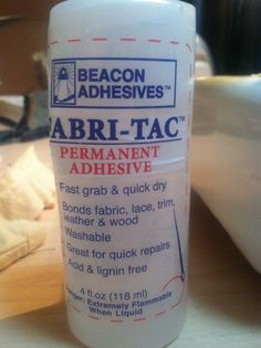 """The best fabric """"no sew"""" glue, I used this to make fabric flowers, works awesome!"""