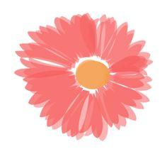 Coral And Orange Flower Clip Art at Clker.com - vector clip art ...